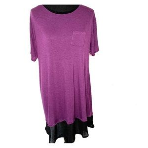 Simply Vera By Vera Wang Purple Tunic Chiffon trim